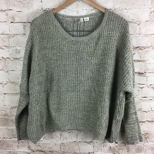 Anthropologie Moth Green Batwing Sweater Small